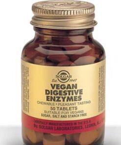 Vegan Enzimas Digestivas Comprimidos masticables Solgar