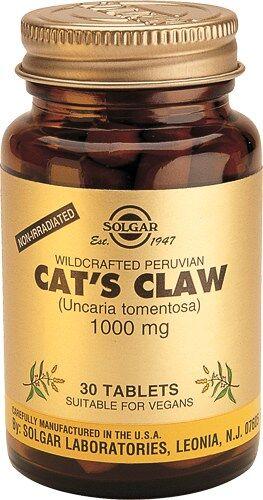 Uña de Gato 1000 mg Solgar