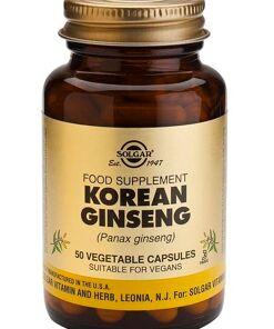 Ginseng Coreano Cápsulas vegetales Solgar