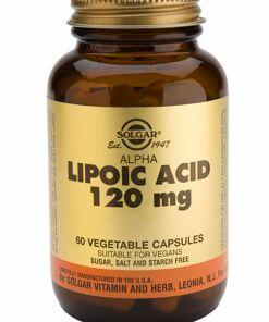 Acido Alfa Lipoico 120Mg 60 Comprimidos de Solgar
