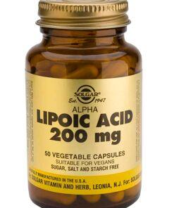 comprar acido alfa lipoico solgar 200 mg