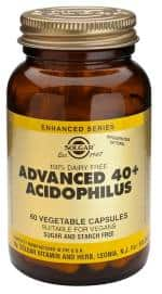 40 + Acidofilus Av. 60 Comprimidos de Solgar