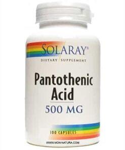 acido pantoténico b5 Solaray