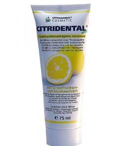 Citridental activo, pasta dental con extractos de semilla de pomelo y mirra de Sanitas 75 ml.
