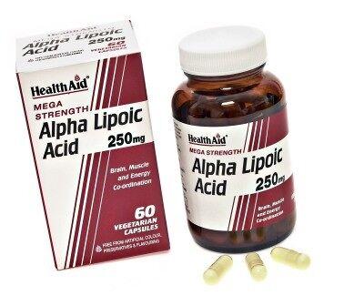 Ácido Alfa Lipoico 250 mg de HealthAid