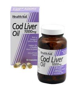 Aceite de hígado de bacalao 1.000 mg de HealthAid