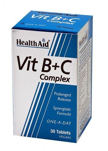 Complejo B+C 30 compr. liberación prolongada de HealthA