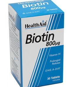Biotina 800 g. Liberación prolongada de HealthAid