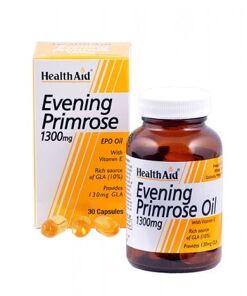 Aceite de onagra 1.300 mg. Con vitamina E de HealthAid