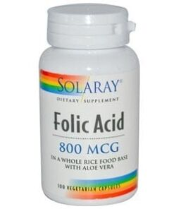 Acido folico 800mcg solaray