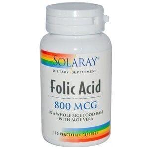 Acido folico 800mcg solaray
