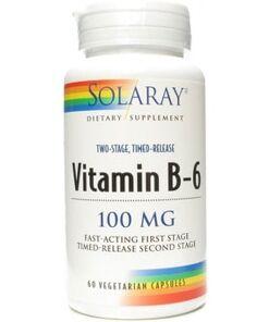 Vitamina b6 100mg solaray