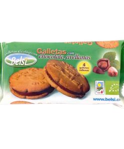 Galletas con chocolate y avellanas 70 gr belsi