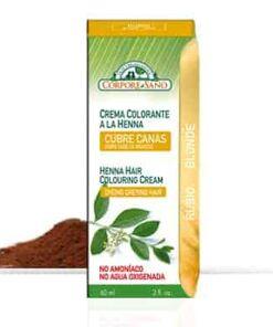 crema colorante a la henna cubre canas rubio corpore sano
