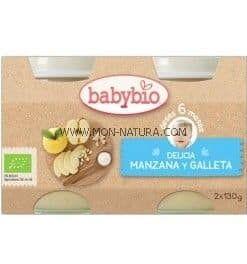 herbolario online potito manzana galleta babybio
