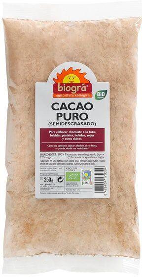 Cacao Puro en Polvo Ecológico Biográ
