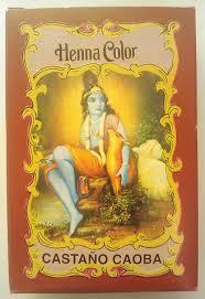 Henna Color Castaño Caoba Polvo