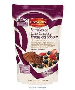 Semillas de lino, cacao y frutas del bosque molidas Linwoods