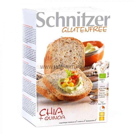 comprar pan de chia con harina de quinoa sin gluten Schnitzer