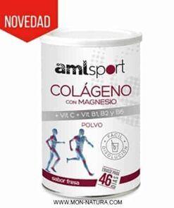 Colágeno con Magnesio + Vit. C + B1 + B2 + B6 fresa 350 gr. AmlSport Ana María Lajusticia