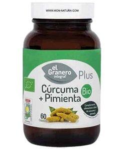 curcuma y pimienta bio capsulas el granero